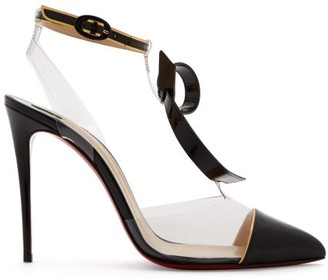 Christian Louboutin Alta Firma 100 Leather And Perspex Pumps - Womens - Black