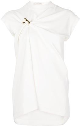 Bottega Veneta White Gathered Clasp Top