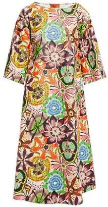 Missoni Floral-print Crinkled Coated-voile Midi Dress