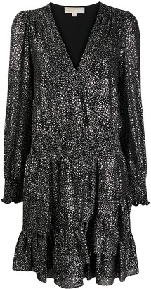 MICHAEL Michael Kors Star-Print Tiered Dress