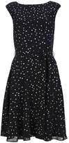 Wallis Black Star Print Fit and Flare Dress