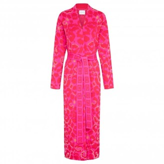 Hayley Menzies Hot Pink Red Ikat Duster - S
