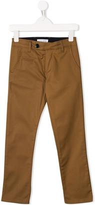 Paolo Pecora Kids Straight-Leg Chino Trousers