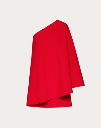 Valentino Double Comfort Crepe Dress Women Red Virgin Wool 94%, Elastane 4% 40