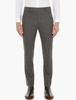 Paul Smith Grey Checked Boot-cut Trousers