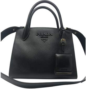 Prada Monochrome Black Leather Handbags