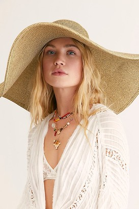 Free People Shady Character Packable Wide Brim Hat