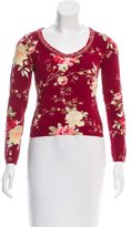 Blumarine Floral Print Scoop Neck Top