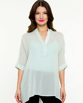 Le Château Silk High-Low Hem Tunic