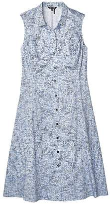 Nic+Zoe Petite Naples Shirtdress (Blue Multi) Women's Clothing