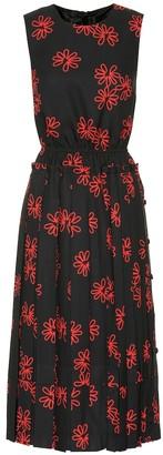 Simone Rocha Printed crApe midi dress