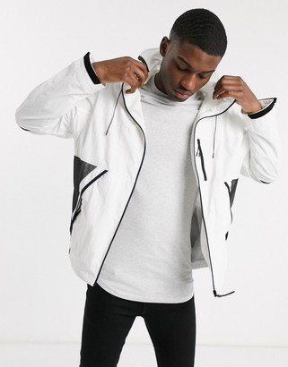 Lacoste hooded rain jacket