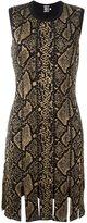 Fausto Puglisi snakeskin print dress