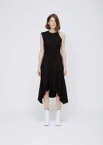 Proenza Schouler black one sleeve asymmetrical dress