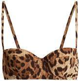 Dolce & Gabbana Leopard-print balconette bikini top