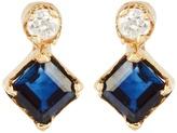 LOREN STEWART Diamond, sapphire & yellow-gold earrings