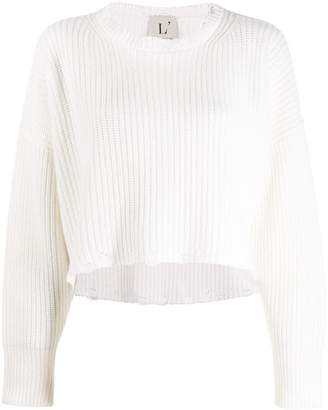 L'Autre Chose cropped long-sleeve sweater