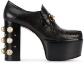Gucci studded platform pumps - women - Leather/Pearls - 35.5