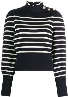 Marc Jacobs Striped High Neck Jumper