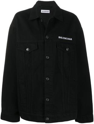 Balenciaga Oversized Crew-Print Jacket