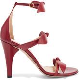Chloé Bow-embellished Leather Sandals - Burgundy