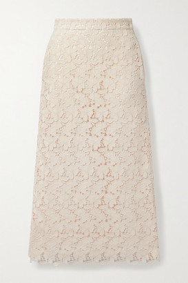 Brock Collection Stella Cotton-blend Guipure Lace Midi Skirt - Ivory