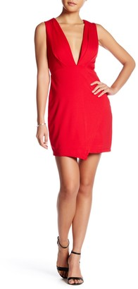Fraiche by J Deep-V Notched Mini Dress