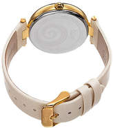 Burgi Womens Crystal Swirl Leather Strap Watch No Color Family