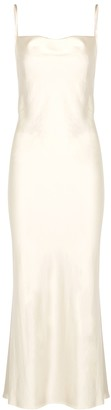 Bec & Bridge Mireille ivory satin maxi dress