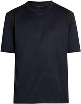 Lanvin Contrast-panel crew-neck T-shirt