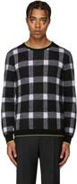 Christopher Kane Black Mohair Check Sweater