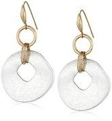 Robert Lee Morris Soho Blue Dimension Two-Tone Drop Earrings
