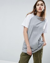 Asos Contrast Color Block T-Shirt