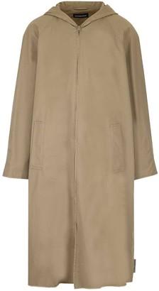 Balenciaga Hooded Zip-Up Coat