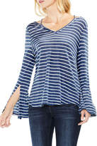 Vince Camuto Split Cuff Striped Tee