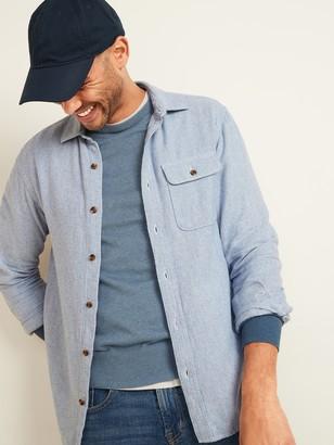 Old Navy Regular-Fit Double-Brushed Cotton Shirt for Men