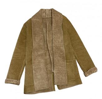 C.b. Made In Italy Beige Suede Coats