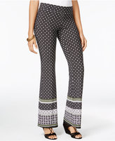 Amy Byer Juniors' Printed Flare-Leg Pants