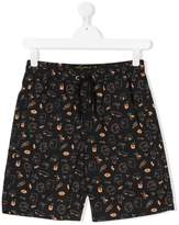 Finger In The Nose The Simpsons print shorts
