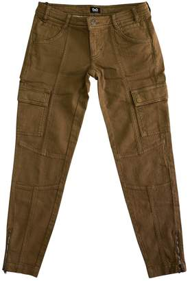 Dolce & Gabbana Brown Cotton Jeans