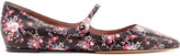 Tabitha Simmons Hermione Floral-print Leather Point-toe Flats - Black