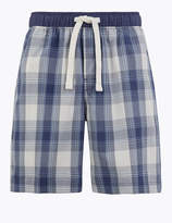 M&S CollectionMarks and Spencer Cotton Checked Pyjama Shorts