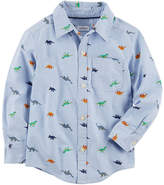 Carter's Long Sleeve Button-Front Shirt Boys