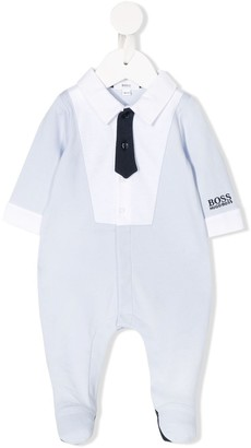 Boss Kids Mock Formal Shirt Pajamas
