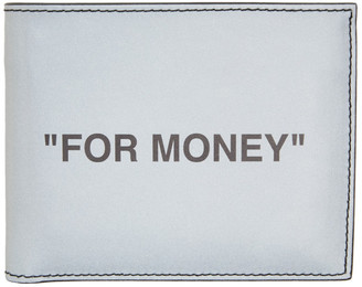 Off-White Silver Quote Bifold Wallet