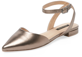 Ava & Aiden D'Orsay Flat with Ankle Strap