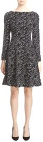 Lela Rose Women's Minnow Reversible Jacquard Fit & Flare Dress