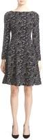Lela Rose Women's Minnow Reversible Jacquard Fit & Flare Dress