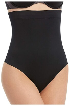 Spanx Suit Your Fancy High-Waist Thong (Very Black) Women's Underwear