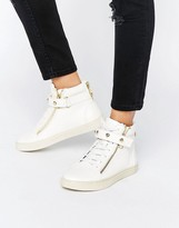 Juicy Couture White Leather High Top Sneakers